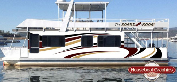HouseboatGraphicscom Blog Part - Custom houseboat vinyl numbers