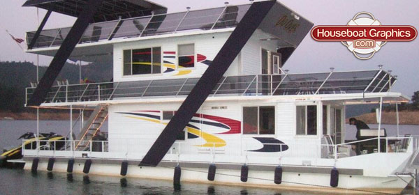How To Use Your Houseboat As A Canvas For Your Creativity - Custom houseboat vinyl numbers