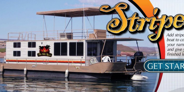 Houseboat Striping Boat Stripes Houseboat Graphics - Custom houseboat vinyl numbers