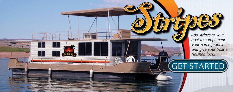 Houseboat Striping Boat Stripes Houseboat Graphics - Custom houseboat vinyl names