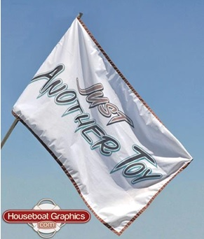 Custom Houseboat And Boat Flags Houseboat Boat Flags - Custom houseboat vinyl numbers