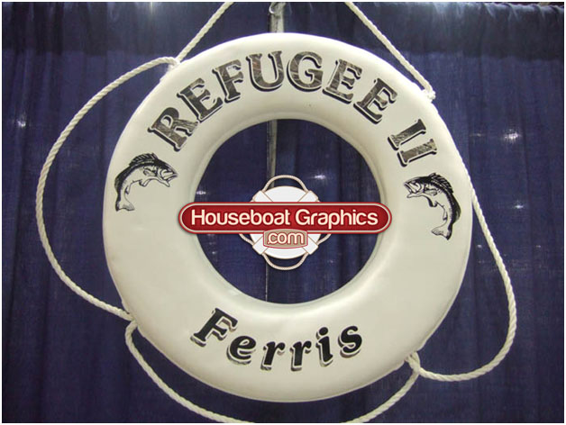 Life Rings For Your Houseboat Or Boat Houseboat Graphics - Custom designed houseboat graphics