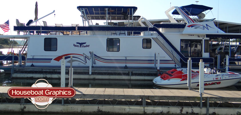 Top Ways To Customize Your Houseboat With Graphics - Houseboats vinyl decals