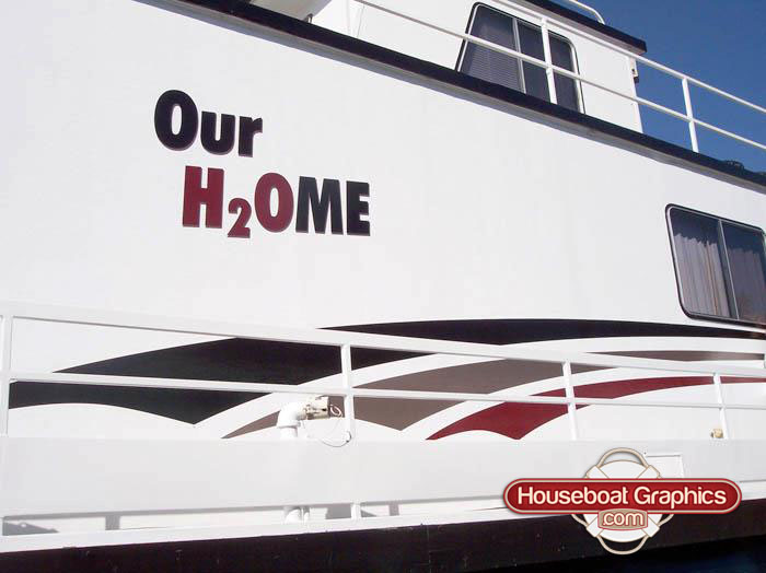 Houseboat Graphics Are More Than A Decoration Boat Graphics - Custom designed houseboat graphics